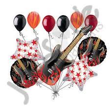 imagenes feliz cumpleaños rockero rock star rock on electric guitar balloon bouquet happy birthday