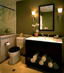 Bathroom Mural Ideas by Dark Green Bathroom Accessories Elegant White And Dark Green