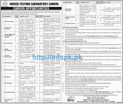 nts jobs in drugs testing laboratory lahore syllabus paper content