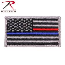 Uniform Flag Patch Rothco Thin Blue Line Thin Red Line Us Flag Patch