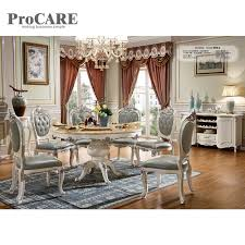 marble top dining table set china foshan classic european style round marble top dining table