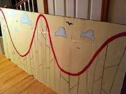 vbs colossal coaster decoration ideas wooden roller coaster