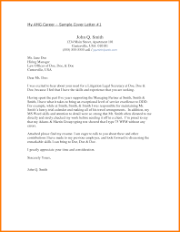 cover letter sample attorney cover letter example paralegal