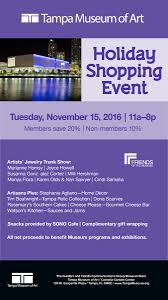 home decor stores tampa fl holiday shopping event presented by tampa museum of art