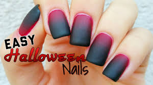 easy halloween nail art youtube