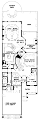 ranch house plans for narrow lots