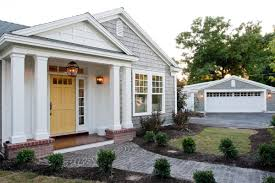 gray house yellow door home pinterest gray house yellow front
