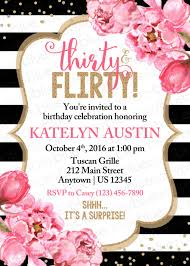thirty u0026 flirty birthday invitation surprise 30th birthday