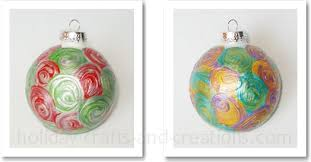 easy to make ornaments painted swirl ornament
