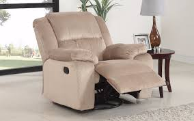 Swivel Recliner Chairs Asturias Traditional Classic Microfiber Rocker And Swivel Recliner