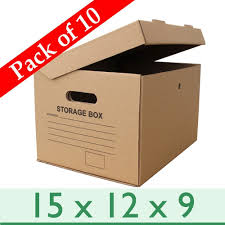 a4 cardboard archive filing storage boxes pack of 10 390mm l