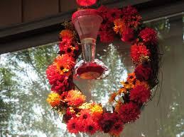 how to make a hummingbird feeder wreath pethelpful