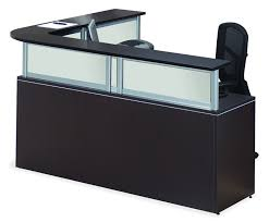 Desks Modern Office Reception Desk The Most Awesome L Shaped Reception Desk With Regard To Household