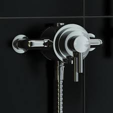 exposed 1 waychrome thermostatic shower mixer valve 130mm 150mm ergonomic designs logo