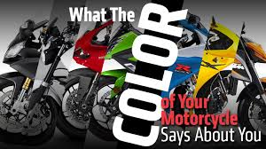 what the color of your motorcycle says about you rideapart