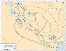 Map Of Al Map Of Iraq April 2003