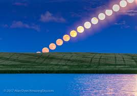 rising of the u201cstrawberry u201d moon u2013 the amazing sky
