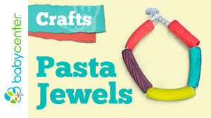 crafts for kids pasta jewelry youtube