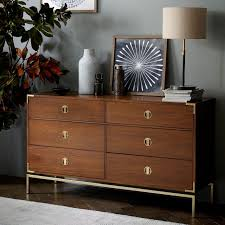 malone caign 6 drawer dresser walnut west elm