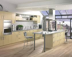 Cream Laminate Flooring Cream Island Also Cabinetry With Grey Granite Countertop Also