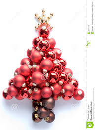tree made from baubles stock photo image 6884046