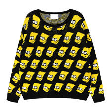 bart sweater free shipping bart pullover sweater vintage
