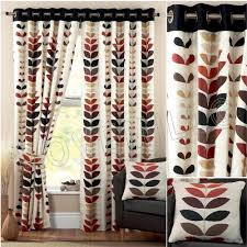 Leaf Pattern Curtains Red Curtains With Leaf Pattern Amazon Co Uk