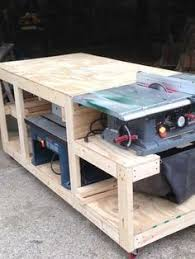 Diy Workbench Free Plans Diy Workbench Workbench Plans And Spaces by 6 Diy Space Saving Miter Saw Stand Plans For A Small Workshop