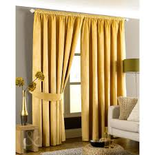 Lined Curtains Velvet Pencil Pleat Curtains Ready Made Lined Yellow Gold