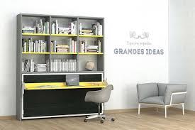 bibliothèque bureau intégré intérieur de la maison bibliotheque bureau integre armoire lit
