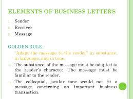 Business Letter Language business letters