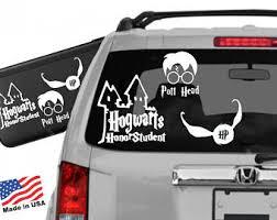 hogwarts alumni bumper sticker harry potter bumper stickers etsy