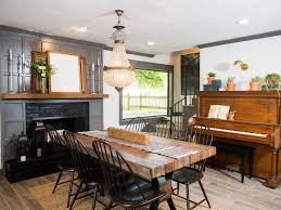 fixer upper dining table hgtv fixer upper brick house is old world charm for newlyweds