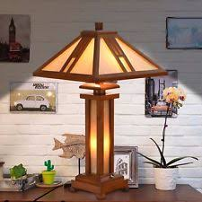 wooden arts u0026 crafts mission style table lamps ebay