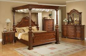 Light Wood Bedroom Sets Elements International Olivia Queen Traditional Ornate Rich Brown