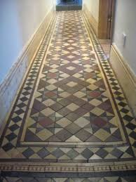 the vintage floor tile company launch traditional hallway