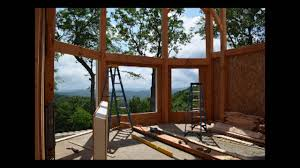 setting sip panels on timber frame home youtube