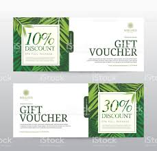 hotel gift certificates gift voucher template for spa hotel resort stock vector
