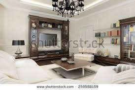 livingroom deco living room deco style 3d stock illustration 259988117