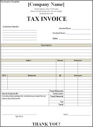 tax invoice template doc tomahawk talk invoice example