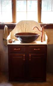 Antique Bathroom Vanity Cabinets by Small Brown Wooden Vanity Cabinet With Light Tone Granite Top And