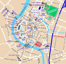 bangkok map tourist attractions bangkok map city reizen bangkok and city
