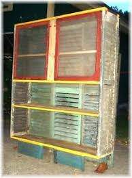 Shabby Chic Shutters by Repurposed Pie Safe Cabinet Antique Shutters U0026 Windows Bakers Rack