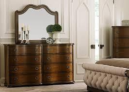 Bedroom Dressers With Mirror 8 Drawer Dresser And Landscape Mirror With Poplar Solids And