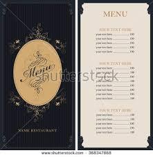 creative menu design menu template layout stock vector 542150977