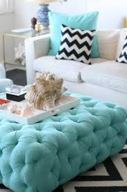 Light Blue Tufted Ottoman For The Of Tufting Ottomans Turquoise And Tufted Ottoman