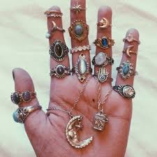 cheap jewelry rings images Jewels ring moon hipster jewelry knuckle ring rings and tings jpg