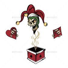 tutorial gambar joker zombie joker skull in a box by rlopez555 graphicriver