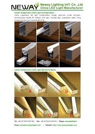 Led Linear Suspended Fitting Modern Linear Suspension Lighting Line U2026