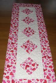 valentine s day table runner valentine s day quilted table runner table runner quilt valentines